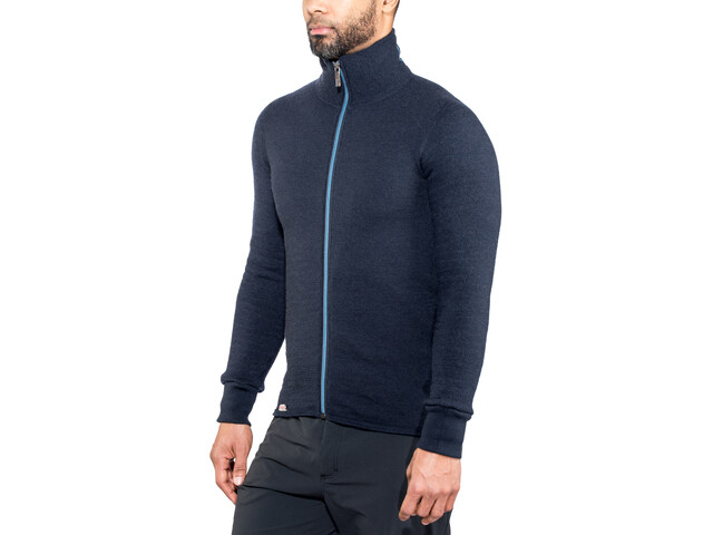 Woolpower 400 Colour Collection Chaqueta con cremallera completa, dark navy/nordic blue